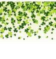 green clover horizontally seamless pattern vector image