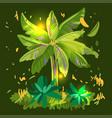 green palm hand drawn vector image