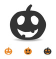 halloween pumpkin icon scary face for party vector image vector image