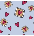 hand-drawn seamless pattern with hearts vector image vector image