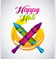 happy holi indian traditional carnival vector image vector image