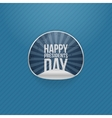 Happy Presidents Day realistic Sticker vector image