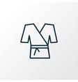 kimono icon line symbol premium quality isolated vector image