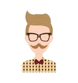 man avatar icon Hipster style concept vector image vector image