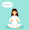 meditating woman vector image vector image