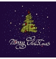 Merry Christmas hand lettering isolated on dark vector image vector image