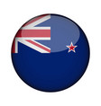 new zealand flag in glossy round button of icon vector image
