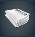 newspaper isolated vector image