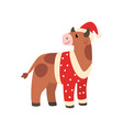 ox symbol new year cute animal chinese vector image