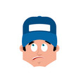plumber surprised emotion avatar fitter vector image vector image