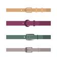 set of different flat colored belts vector image