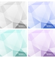 Set of Light Colorful Abstract Geometric vector image vector image