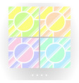 set of light seamless patterns vector image