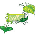 set of nature related elements such as leafs and i vector image