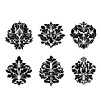 Six different floral arabesque designs vector image vector image