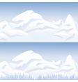 Snow mountain landscape vector image vector image
