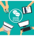 Social media design Networking icon Technology vector image vector image