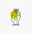 sousveillance artificial brain digital head line vector image vector image