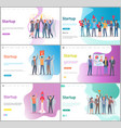 startup people working in office business ideas vector image