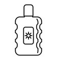 sunscreen bottle icon outline style vector image