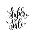 super sale black and white hand lettering vector image vector image