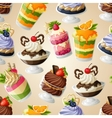 Sweets dessert seamless pattern vector image vector image