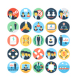 Team Work and Organization Icons 3 vector image