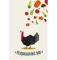 thanksgiving day postcard vector image