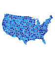 usa map collage of pixels vector image
