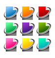 various colors network file icon set vector image vector image