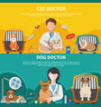 veterinary doctor banners vector image vector image