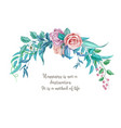watercolor vintage rose flower wedding card vector image vector image