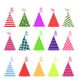 birthday hat set vector image
