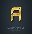 graphic elegant gold font Letter A Template for vector image