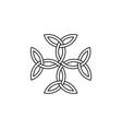 carolingian cross triquetra symbol vector image
