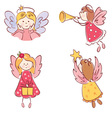 collection of angels vector image