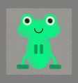 flat shading style icon cute frog cartoon vector image
