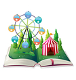 A storybook with a carnival vector image vector image