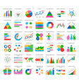 analytics statistics icons in flat style vector image