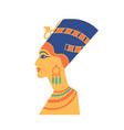 ancient bust of nefertiti or neferneferuaten vector image