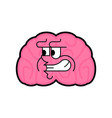 angry brain evil internal organ isolated terrible vector image vector image