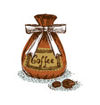 bag with coffee vector image