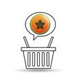 basket market papaya icon design vector image
