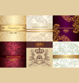 big set of invitations for design vector image vector image
