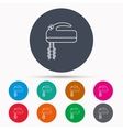 Blender icon Mixer sign vector image