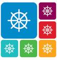 boat steering wheel icon vector image vector image