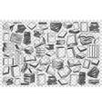 bookstore doodle set vector image vector image