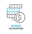 business accounting concept outline icon linear vector image vector image