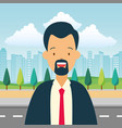businessman city street vector image vector image