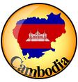button Cambodia vector image vector image